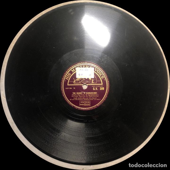 Discos de pizarra: 78 RPM - HIS MASTER VOICE - Don Carlos and His Band - The Bandit / Mexicana - CUBA MUSIC - Foto 4 - 242940760