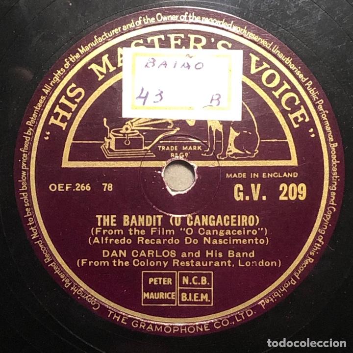 78 RPM - HIS MASTER VOICE - DON CARLOS AND HIS BAND - THE BANDIT / MEXICANA - CUBA MUSIC (Música - Discos - Pizarra - Solistas Melódicos y Bailables)