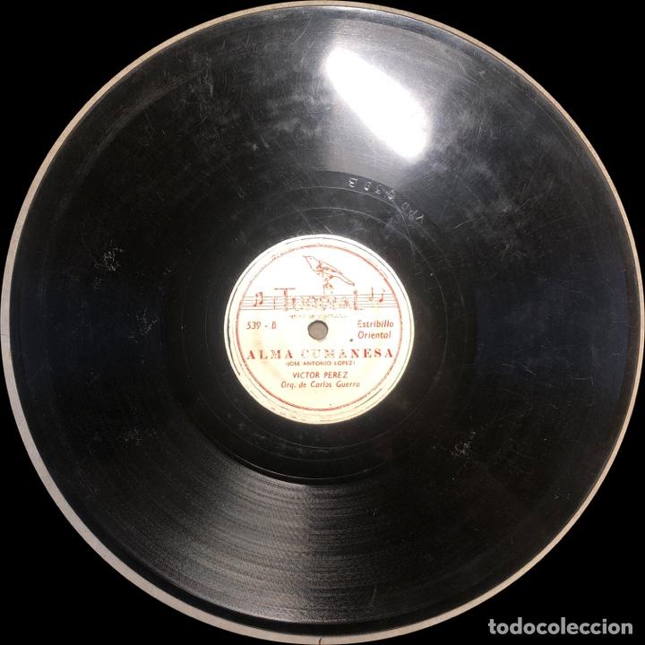 Discos de pizarra: 78 RPM - TURPIAL - Victor Perez / Carlos Guerra - La Orchila / Alma Cumanesa - GUARACHA - Foto 3 - 242942445