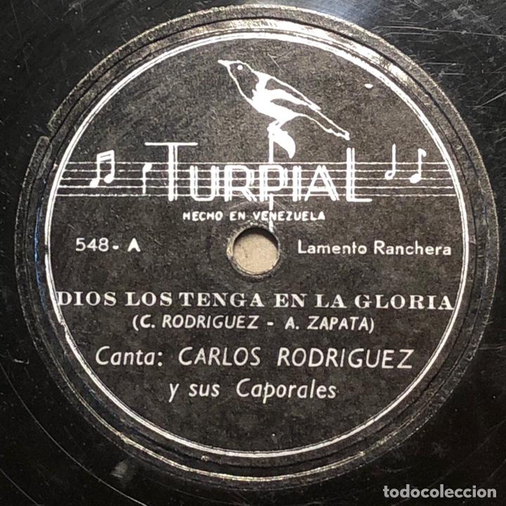 Discos de pizarra: 78 RPM -Carlos Rodriguez y sus caporales - Dios Los Tenga en su Gloria/ Chinazos a un Dictador - Foto 2 - 242943685