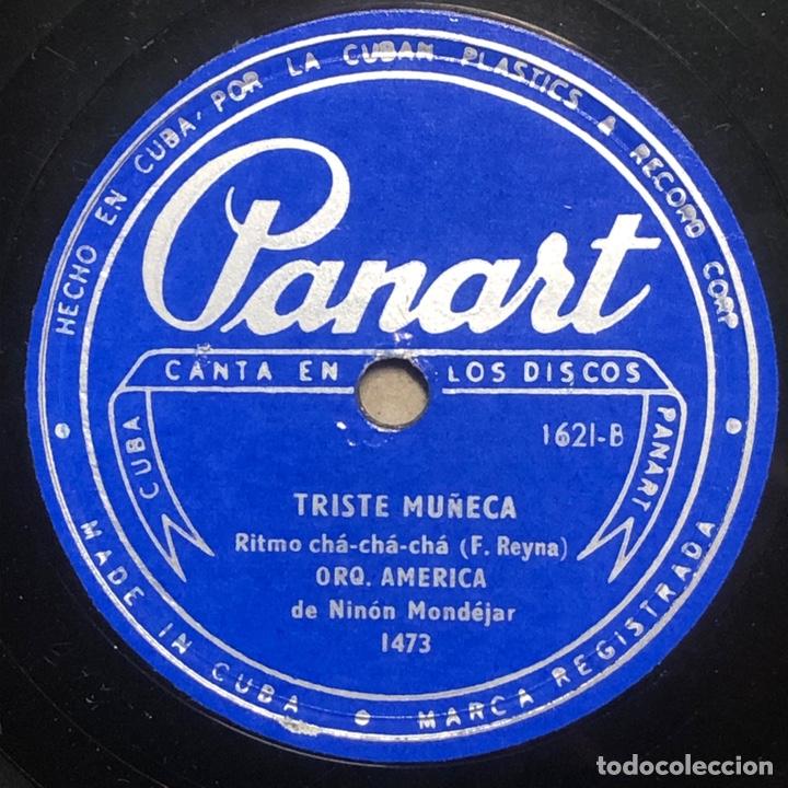 Discos de pizarra: 78 Rpm - PANART - Orquesta America - No Camino Mas/ Triste Muñeca- Cha Cha cha - Cuba - Foto 2 - 242945575