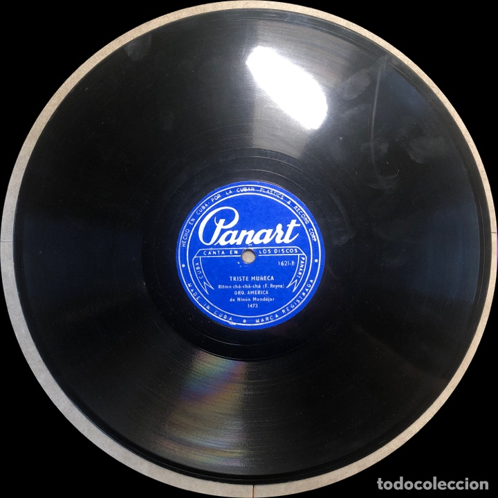 Discos de pizarra: 78 Rpm - PANART - Orquesta America - No Camino Mas/ Triste Muñeca- Cha Cha cha - Cuba - Foto 3 - 242945575