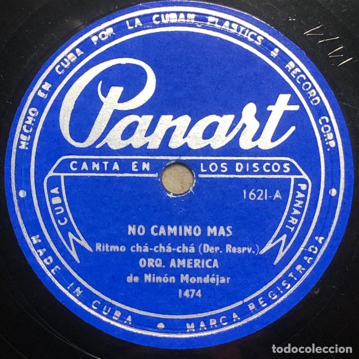 78 RPM - PANART - ORQUESTA AMERICA - NO CAMINO MAS/ TRISTE MUÑECA- CHA CHA CHA - CUBA (Música - Discos - Pizarra - Solistas Melódicos y Bailables)
