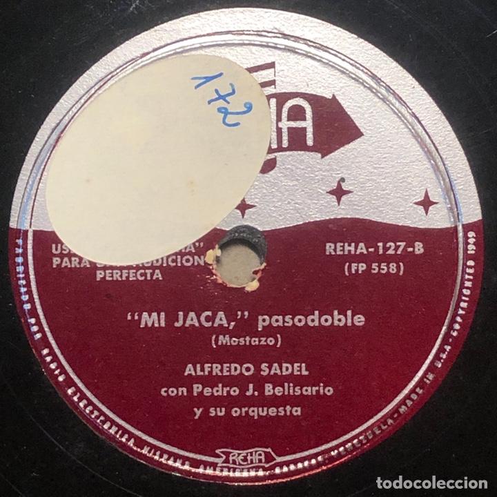 Discos de pizarra: 78 RPM - Reha - Alfredo Sadel / Pedro J. Belisario - Luís Miguel / Mi Jaca - Pasodoble - Foto 2 - 242948760