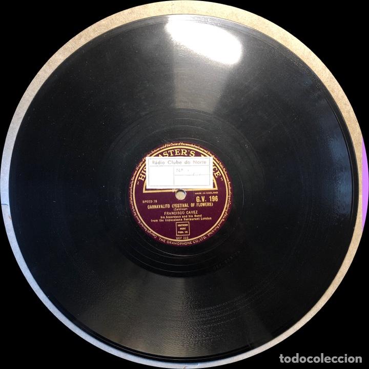 Discos de pizarra: 78 Rpm - His Master Voice - Francisco Cavez - Carnavalito / Baion Carioca - baio - Foto 4 - 243334525
