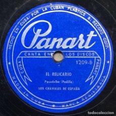 Discos de pizarra: 78 RPM - PANART -LOS CHAVALES DE ESPAÑA - EL RELICARIO / LISBOA ANTIGUA - PASODOBLE. Lote 243339215