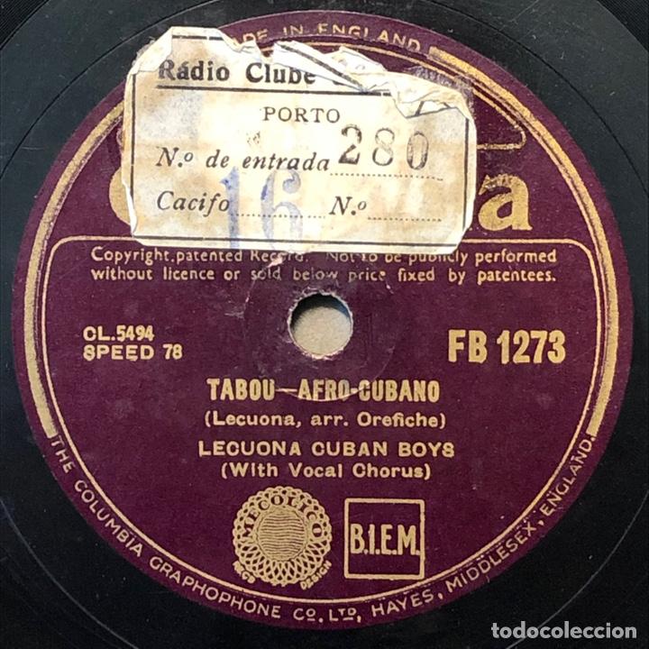 Discos de pizarra: 78 RPM - Columbia-LECUONA CUBAN BOYS - TABOU / AMAPOLA - Rumba - Foto 2 - 243358880