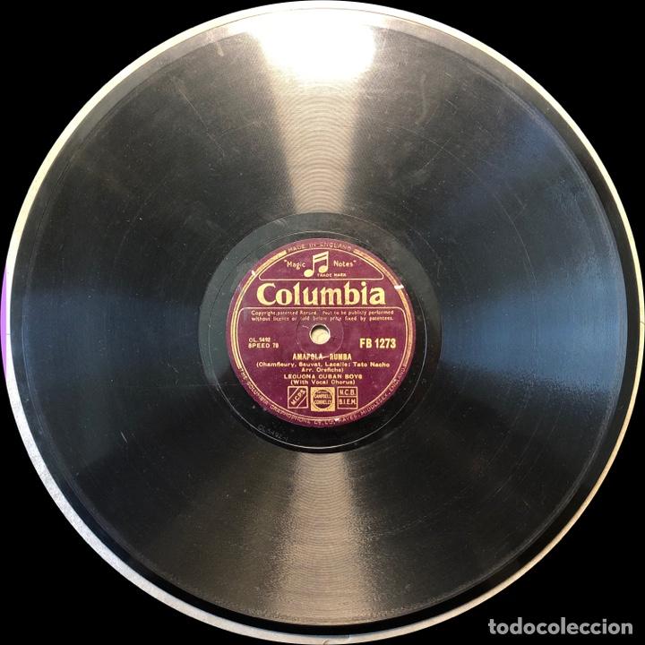 Discos de pizarra: 78 RPM - Columbia-LECUONA CUBAN BOYS - TABOU / AMAPOLA - Rumba - Foto 4 - 243358880