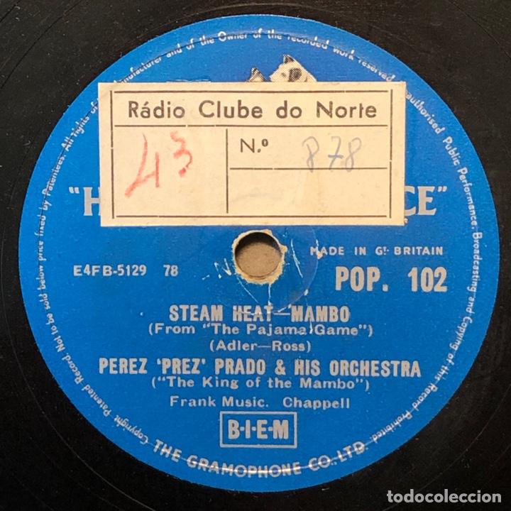 Discos de pizarra: 78 Rpm - His Master Voice -Perez Prado-Marilyn Monroe Mambo / Stem heat - Foto 2 - 243368345