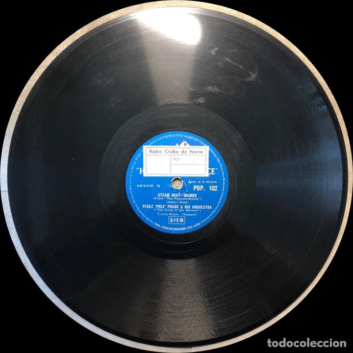 Discos de pizarra: 78 Rpm - His Master Voice -Perez Prado-Marilyn Monroe Mambo / Stem heat - Foto 3 - 243368345
