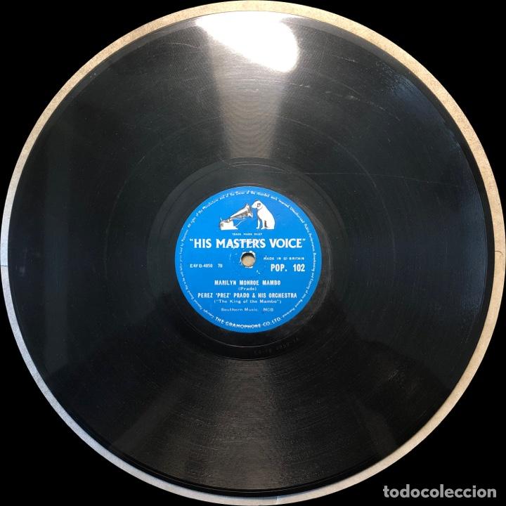 Discos de pizarra: 78 Rpm - His Master Voice -Perez Prado-Marilyn Monroe Mambo / Stem heat - Foto 4 - 243368345