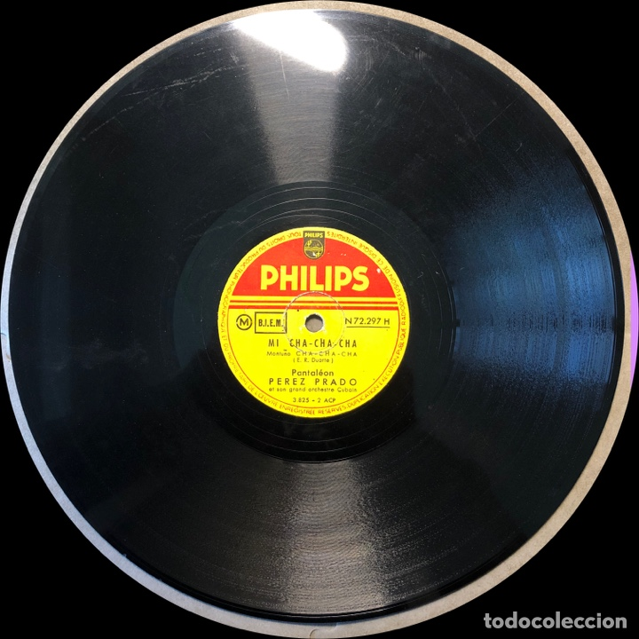 Discos de pizarra: 78 RPM - Perez Prado - Mi Cha Cha Cha / Manengue - Foto 3 - 243370085