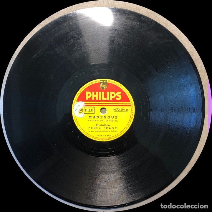 Discos de pizarra: 78 RPM - Perez Prado - Mi Cha Cha Cha / Manengue - Foto 4 - 243370085