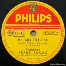 Discos de pizarra: 78 RPM - PEREZ PRADO - MI CHA CHA CHA / MANENGUE. Lote 243370085