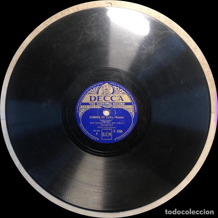 Discos de pizarra: 78 Rpm - Decca - Don Barreto - Fado do Amor /Sombra De Cuba - Rumba - Foto 3 - 243522310