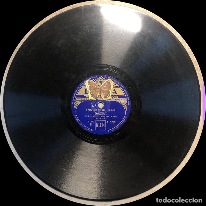 Discos de pizarra: 78 Rpm - Decca - Don Barreto - Fado do Amor /Sombra De Cuba - Rumba - Foto 4 - 243522310