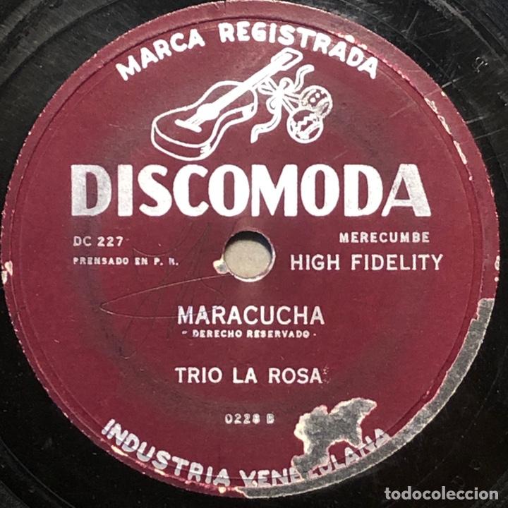 Discos de pizarra: 78 RPM - DISCOMODA - Trio La Rosa - Muñeco Lindo / Maracucha - Cuba - Foto 2 - 243523325