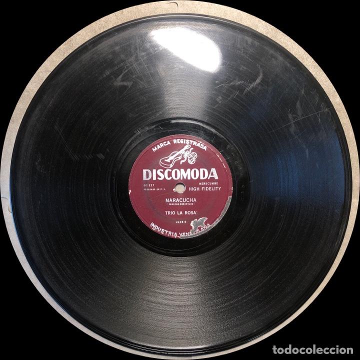 Discos de pizarra: 78 RPM - DISCOMODA - Trio La Rosa - Muñeco Lindo / Maracucha - Cuba - Foto 3 - 243523325
