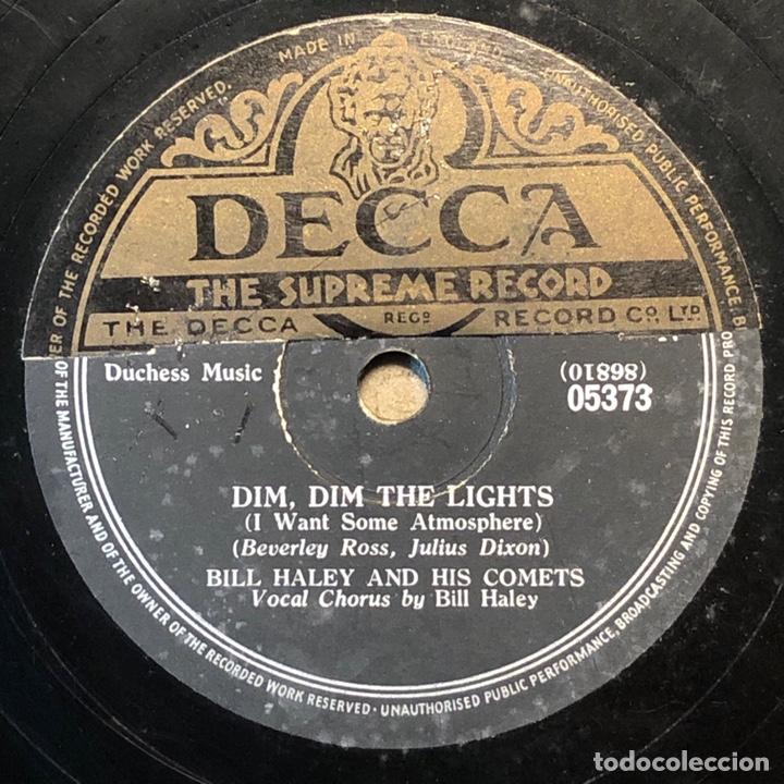 Discos de pizarra: 78 Rpm - Brunswick- Bill Haley - Dim, Dim The Lights / Happy Baby- Rock - Foto 2 - 243530770