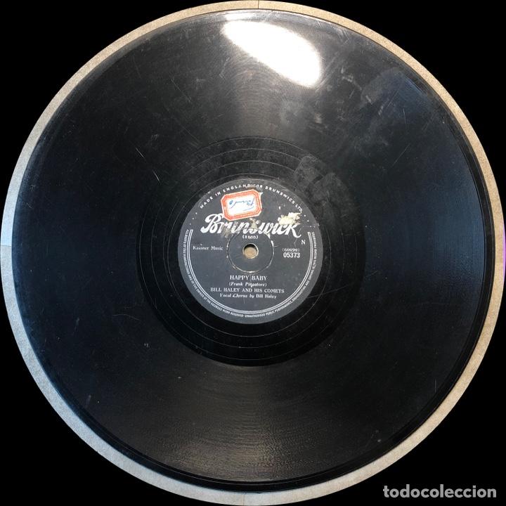 Discos de pizarra: 78 Rpm - Brunswick- Bill Haley - Dim, Dim The Lights / Happy Baby- Rock - Foto 3 - 243530770