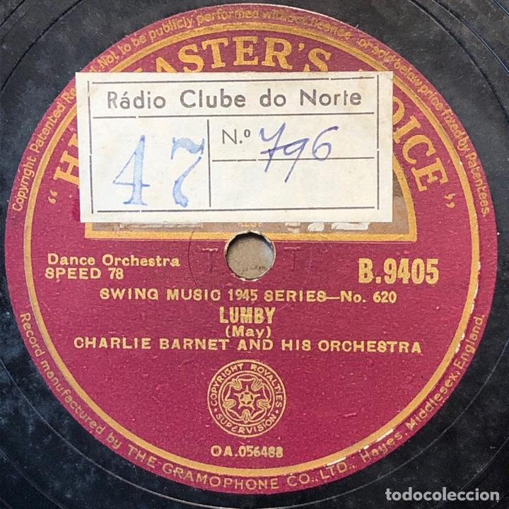 78 RPM - HIS MASTER VOICE - CHARLIE BARNET MOTHER FUZZY / LUMBY - SWING (Música - Discos - Pizarra - Jazz, Blues, R&B, Soul y Gospel)