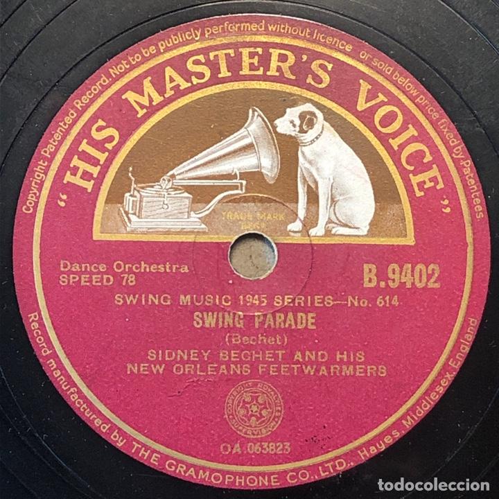 78 RPM - HIS MASTER VOICE- SIDNEY BECHET - SWING PARADE/SAVE IT, PRETTY MAMA (Música - Discos - Pizarra - Jazz, Blues, R&B, Soul y Gospel)