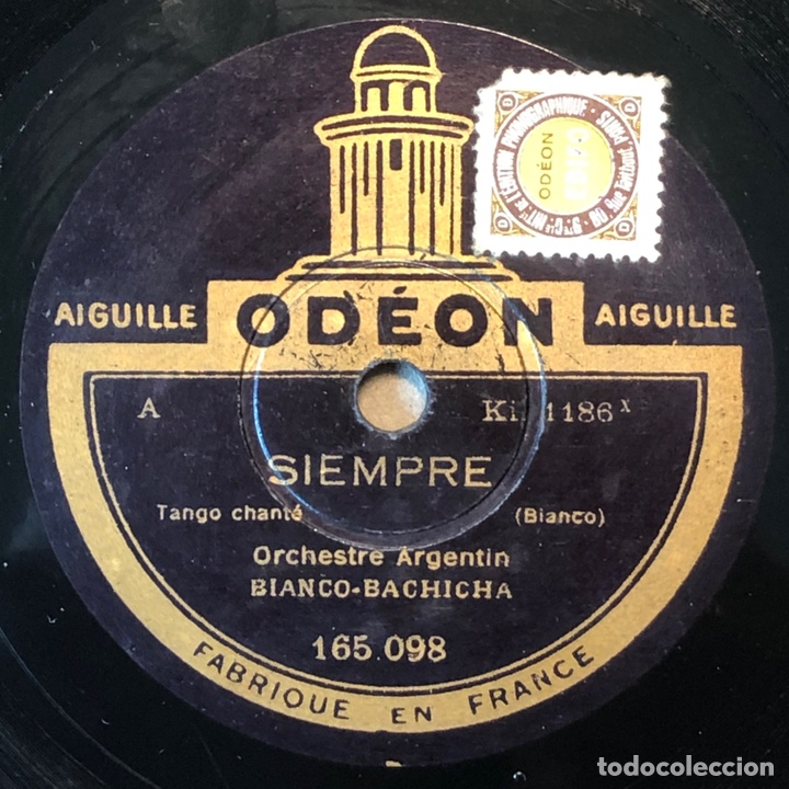 Discos de pizarra: 78 Rpm - Odeon - Bianco Bachicha - Plegaria / Siempre -Tango - Foto 2 - 243585805