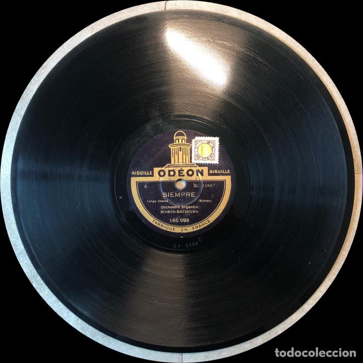 Discos de pizarra: 78 Rpm - Odeon - Bianco Bachicha - Plegaria / Siempre -Tango - Foto 3 - 243585805