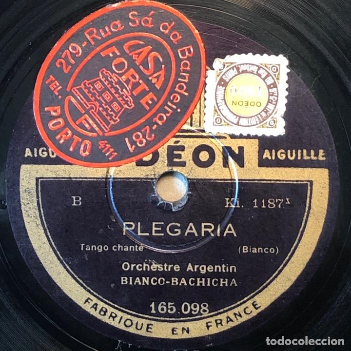 78 RPM - ODEON - BIANCO BACHICHA - PLEGARIA / SIEMPRE -TANGO (Música - Discos - Pizarra - Solistas Melódicos y Bailables)