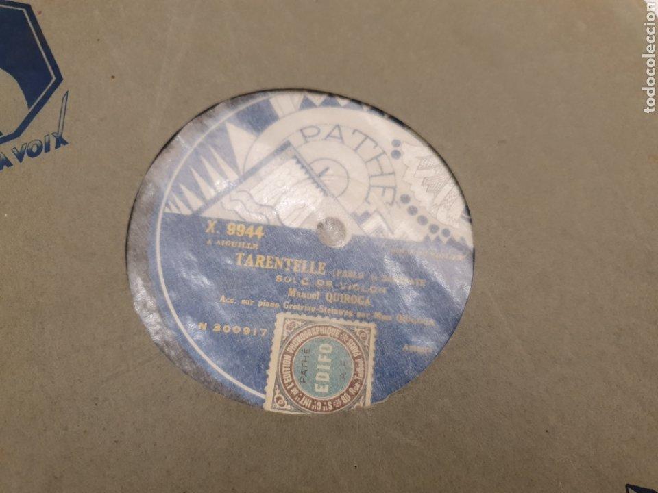 Discos de pizarra: 78 RPM MANUEL QUIROGA SOLO VIOLIN - Foto 2 - 244567425