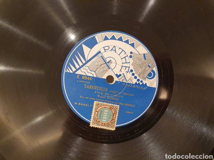 Discos de pizarra: 78 RPM MANUEL QUIROGA SOLO VIOLIN - Foto 4 - 244567425