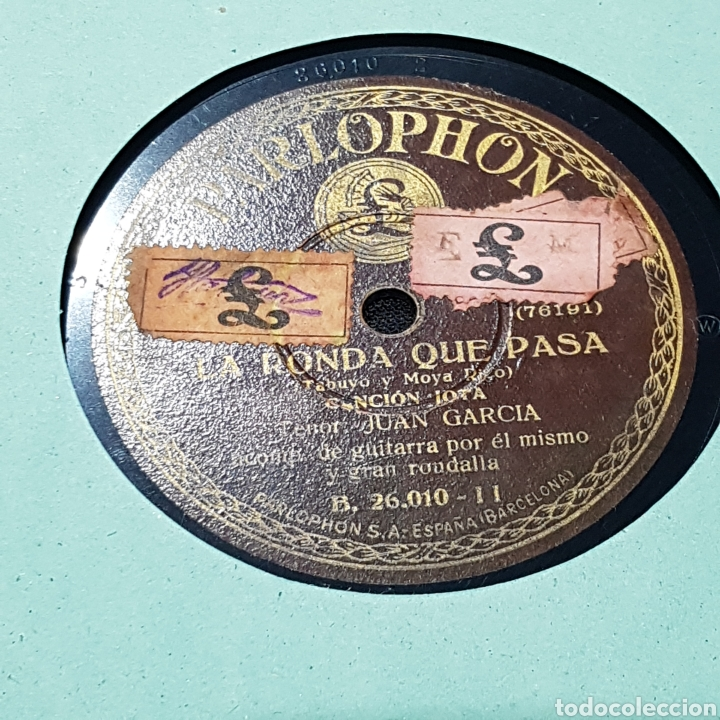 Discos de pizarra: DISCO DE PIZARRA PARLOPHON/ LA RONDA QUE PASA - Foto 2 - 244648145