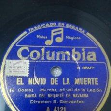 Discos de pizarra: MILITAR. LA CANCIÓN DEL LEGIONARIO/EL NOVIO DE LA MUERTE. HIMNO DE LA LEGIÓN. Lote 244652905