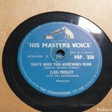 Discos de pizarra: 78 RPM ELVIS HIS MASTER VOICE. Lote 244844655