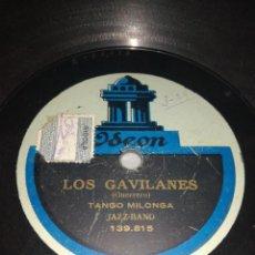 Discos de pizarra: LOS GAVILANES-TWO STEP JAZZ-BAND-TANGO MILONGA JAZZ-BAND-MEGA RARA. Lote 244849100