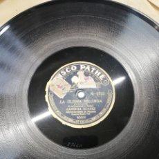 Discos de pizarra: DISCO 78RPM CANDIDA SUAREZ-CLAVELES ROJOS/LA ULTIMA MILONGA. Lote 245213355