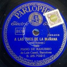 Discos de pizarra: LUIS CASALI. PIANO DE MANUBRIO. Lote 245315505