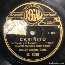 Disques en gomme-laque: 78 RPM - RAFAEL CANARO / CARLOS DANTE - ESTAMPILLA / CARIÑITO - TANGO. Lote 245545935