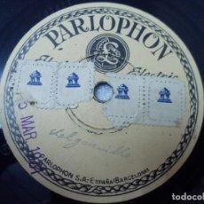 Discos de pizarra: SOLO DE ORGANILLO / RECITADO CÓMICO POR RAFAEL ARCOS. GOLONDRINAS. VER DESCRIPCIÓN DEL CONTENIDO.. Lote 245618005