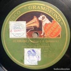 Disques en gomme-laque: 78 RPM - GRAMOFONO - FRANCISCO SPAVENTA - HERMANA / Y NO SALGAS DE TU BARRIO - TANGO. Lote 246039645