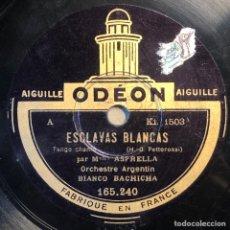 Disques en gomme-laque: 78 RPM - ODEON- BIANCO BACHICHA -LA ESCLAVAS BLANCAS / LO HA VISTO CON OTRA- TANGO. Lote 246043310