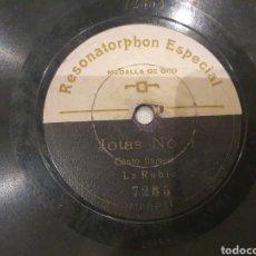 Discos de pizarra: 78 RPM LA RUBIA. Lote 246258085