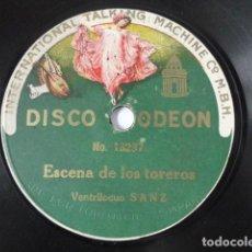 Disques en gomme-laque: VENTRILOCUO SANZ - EL LORO MECÁNICO / ESCENA DE LOS TOREROS - ODEON 13.236. Lote 246314020