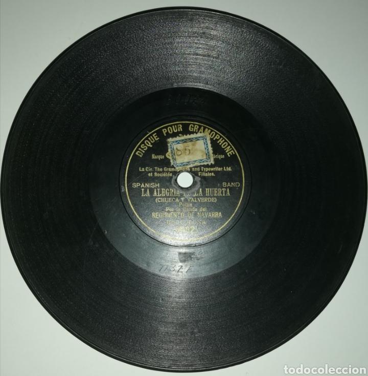 Discos de pizarra: Banda Regimiento Navarra - La Alegría de la Huerta (1902) - Foto 2 - 246530995