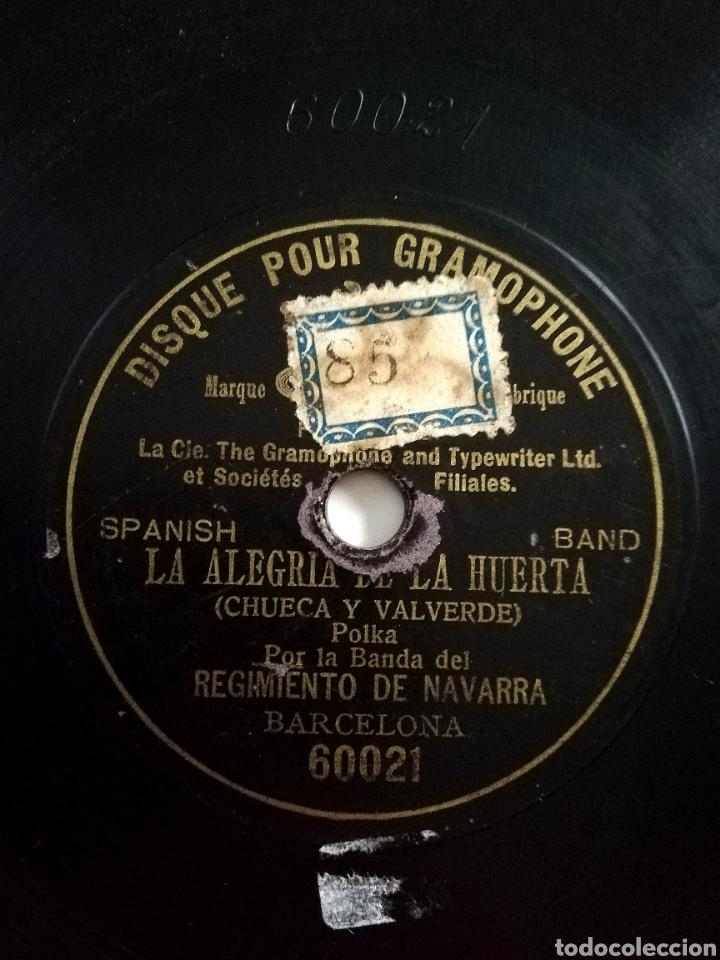BANDA REGIMIENTO NAVARRA - LA ALEGRÍA DE LA HUERTA (1902) (Música - Discos - Pizarra - Clásica, Ópera, Zarzuela y Marchas)
