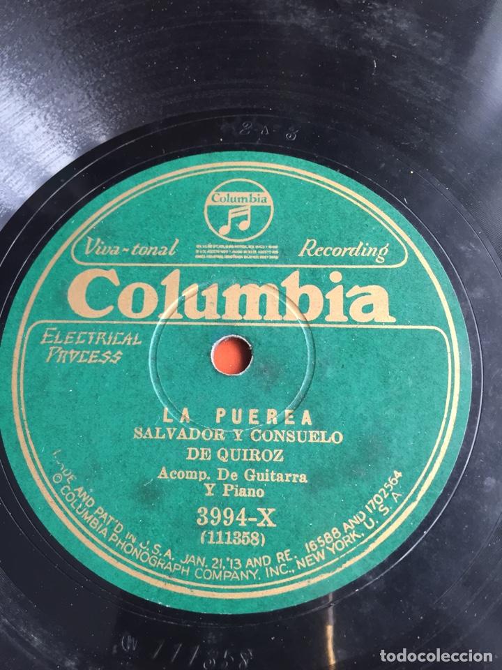 LA PUEREA SALVADOR Y CONSUELO DE QUIROZ (Música - Discos - Pizarra - Flamenco, Canción española y Cuplé)