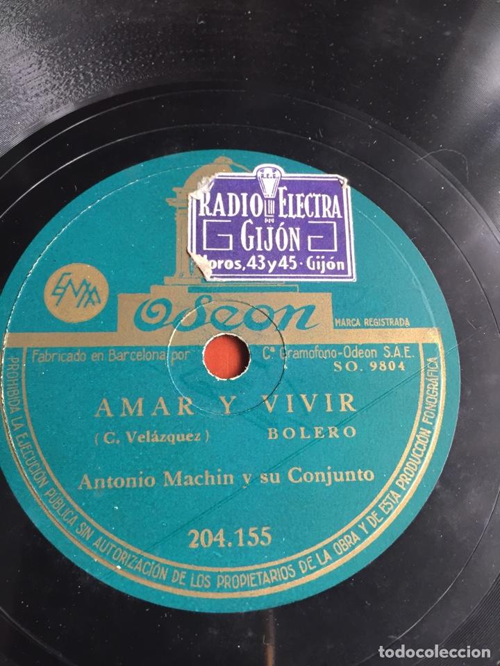 AMAR Y VIVIR ANTONIO MACHIN (Música - Discos - Pizarra - Flamenco, Canción española y Cuplé)