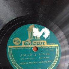 Discos de pizarra: AMAR Y VIVIR ANTONIO MACHIN. Lote 246921225