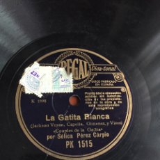 Discos de pizarra: LA GATITA BLANCA POR SELICA PÉREZ CARPIO. Lote 246922630