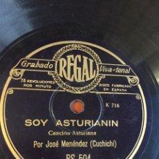 Discos de pizarra: SOY ASTURIANIN CUCHICHI. Lote 247186750